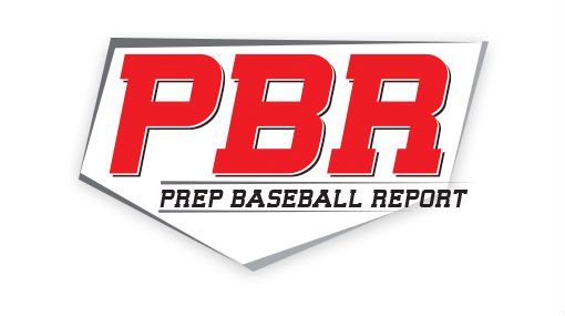 "Prep Baseball Report logo with red text spelling out ""PBR"""