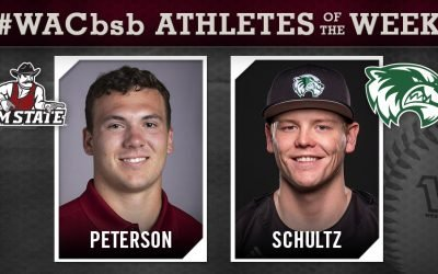 Western Athletic Conference Names Hitter and Pitcher of the Week
