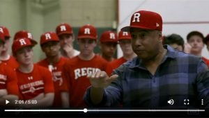 Bernie Williams Visits Regis HS Baseball Team