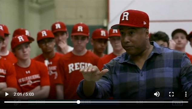 Yankees Great Bernie Williams Visits NYC High School Baseball Team
