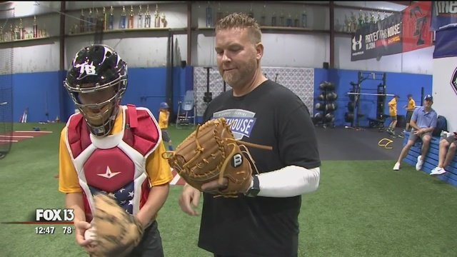 Former Tampa Bay Rays Players Train Young Baseball Players in Oldsmar, FL